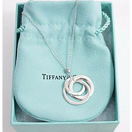 Tiffany & Co. Sterling Silver 1837 Interlocking Triple Circles Necklace