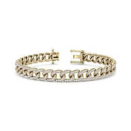 Bracelet Chain in 14K Gold and 1.44ct White Diamonds