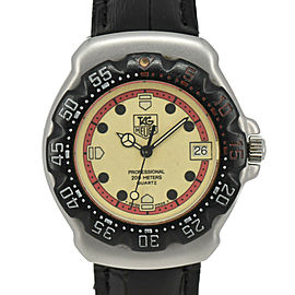 TAG HEUER Formula 1 371.513 yellow Dial SS/Leather Quartz Boy's Watch