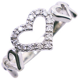 STAR JEWELRY 18k white gold/diamond heart Ring