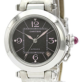 CARTIER W3109599 Pasha C Stainless steel Leather Christmas LTD Edition Automatic Watch