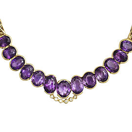 Roberto Coin 18K Yellow Gold Amethyst Diamond Collar Necklace