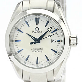 Polished OMEGA Seamaster Aqua Terra MOP Dial Steel Ladies Watch 2577.70