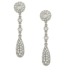 Simon G. 18K White Gold & 1.51ctw Diamond Drop Earrings