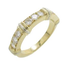 Cartier 18K Yellow & White Gold Diamond Ring Size 4