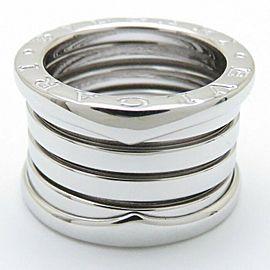 BVLGARI 18K White Gold B.zero1 5 Band Ring