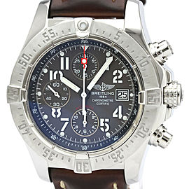 Polished BREITLING Avenger Chronograph Steel Automatic Watch A13380