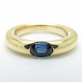CARTIER 18K Yellow Gold Sapphire Ellipse Ring