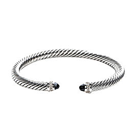 David Yurman Cable Classic Sterling Silver with Black Onyx & 0.07ct. Diamonds Bracelet