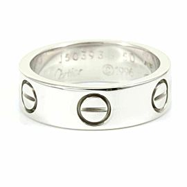 Cartier 18K White Gold Love Band Ring CHAT-132