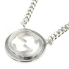 GUCCI 925 silver Interlocking G Necklace