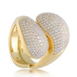 Cartier Le Yin et Le Yang 18K Yellow Gold with Diamond Ring Size 7