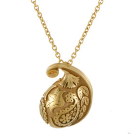 Carrera y Carrera Aqua 18K Yellow Gold Pendant Necklace