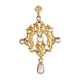 Carrera Y Carrera 18K Yellow Gold with 5.50ct Diamond Pendant/Brooch