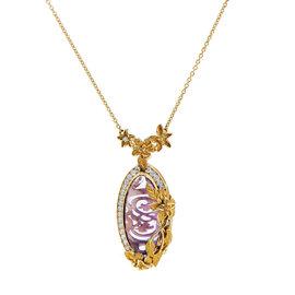 Carrera y Carrera Emperatriz Cascada Medium Gold Gemstone Pendant Necklace