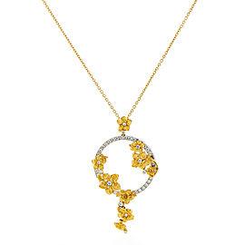 Carrera y Carrera 18K White & Yellow Gold Emperatriz Bouquet Maxi Diamond Pendant Necklace