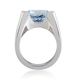 Cartier Crt06021618 Metal: White Gold Weight: 19.7 Grams Stones: Aquamarine Signatures: Cartier Included Items: Manufacturer's Box White Gold Aquamarine Womens Ring