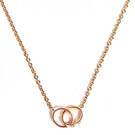 Cartier Rose Gold Love Double Necklace