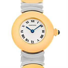 Cartier Baignoire 1641 Stainless Steel & 18K Yellow Gold Quartz 23mm Womens Watch