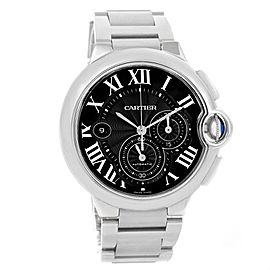 Cartier Ballon Bleu W6920077 Stainless Steel & Black Dial 44mm Mens Watch