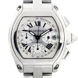 Cartier Roadster Chronograph W62019X6 Stainless Steel 43mm Mens Watch