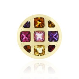 Cartier Pasha 18K Yellow Gold with Multiple Gemstone Ring Size 6.5