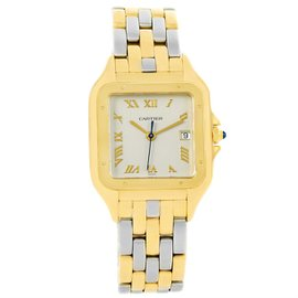 Cartier Panthere Stainless Steel 18K Yellow Gold 29mm Unisex Watch