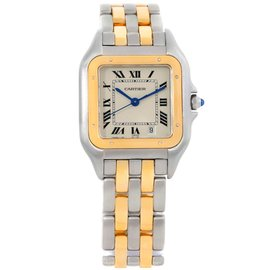 Cartier Panthere W25028B6 Stainless Steel and 18K Yellow Gold 36mm Quartz Mens Watch