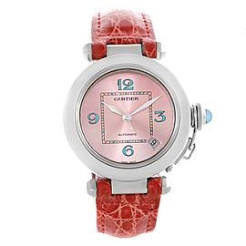 Cartier Pasha C W3108199 Stainless Steel & Pink Dial 35mm Womens Watch