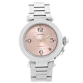Cartier Pasha C W31075M7 Stainless Steel & Pink Dial 35mm Womens Watch