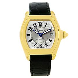Cartier Roadster W62005V2 18K Yellow Gold 37mm Mens Watch