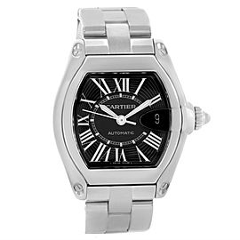 Cartier Roadster W62041V3 Stainless Steel Black Dial Automatic 38mm Mens Watch