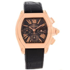 Cartier Roadster Chronograph XL W62042Y5 18K Rose Gold 43mm Mens Watch