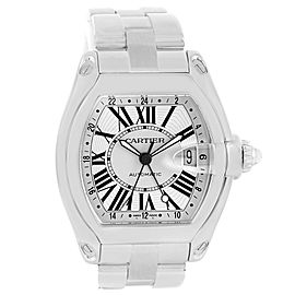 Cartier Roadster W62032X6 Stainless Steel Silver Dial 43mm Mens Watch