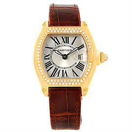 Cartier Roadster WE500160 18K Yellow Gold Diamond 31mm Womens Watch