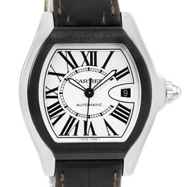 Cartier Roadster S W6206018 Stainless Steel & Leather Automatic 45.6mm Unisex Watch