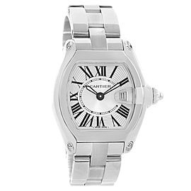 Cartier Roadster W62016V3 Silver Dial Stainless Steel Quartz 30mm Womens Watch