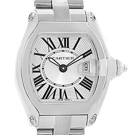 Cartier Roadster W62016V3 Silver Dial Stainless Steel 36mm x 30mm Womens Watch