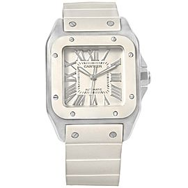 Cartier Santos 100 W20121U2 Stainless Steel Automatic 32mm Womens Watch