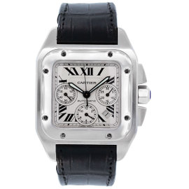 Cartier Santos 100XL 2740 Stainless Steel Chronograph Automatic 41mm Mens Watch