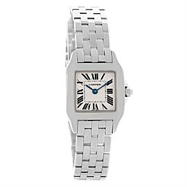 Cartier Santos Demoiselle W25064Z5 Stainless Steel & Silver Dial 22mm Womens Watch