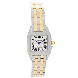 Cartier Santos Demoiselle W25066Z6 Stainless Steel & 18K Yellow Gold 22mm Womens Watch
