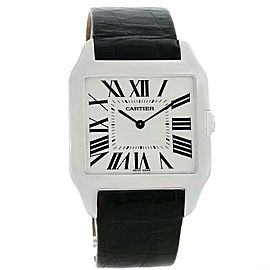 Cartier Santos Dumont W2007051 18K White Gold Manual 29mm Mens Watch