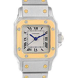 Cartier Santos Galbee 166930 Stainless Steel & 18K Yellow Gold 24mm Womens Watch