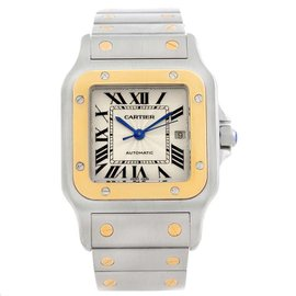 Cartier Santos Galbee W20058C4 Stainless Steel and Yellow Gold 29mm Unisex Watch