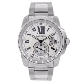 Cartier Calibre 744368RX Silver Dial Stainless Steel Automatic 42mm Mens Watch