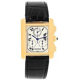 Cartier Tank Francaise Chronoflex W5000556 36mm Mens Watch