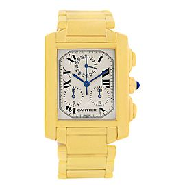Cartier Tank Francaise W50005R2 18K Yellow Gold Quartz 28mm Mens Watch