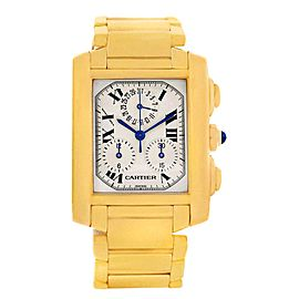 Cartier Tank Francaise W50005R2 18K Yellow Gold Quartz 28mm Unisex Watch