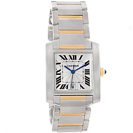Cartier Tank Francaise W51005Q4 Stainless Steel/Yellow Gold Automatic 28mm Mens Watch